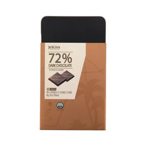 Wholesale natural air cool pack: Jekiss Premium 62.8% Dark Chocolate 80g (15pcs) Sweet Cacao Best From Korea Jeju