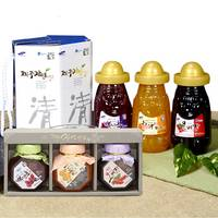 Cheong, Seon Set of Jeju 2 Types Korea Healthy Tea Rich Mineral Vitamins Honey Fruit Hallabong Sweet