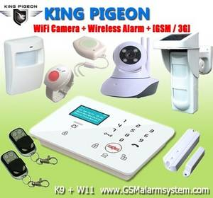 Wholesale lcd cctv display: Wireless GSM House Alarm (Wireless and Wired)  K9