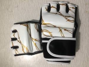 Wholesale leather glove: G STAR Leather Gel Tech MMA UFC Grappling Gloves Fight Boxing Punch Bag Training