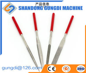 Wholesale file: Easy-operated Small Diamond Surfaced Round/Half-round/Triangle/Square Needle File Use in General and