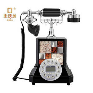 Wholesale sexy board: Black Mosaic Retro Sexy Antique Telephone with Corded JHF-9112B