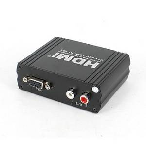 Wholesale support 3D: HDMI To VGA Converter Adapter +R/L Audio Support 3D HDCP