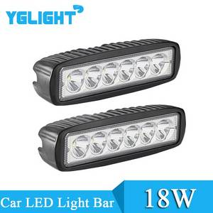 Wholesale atv: YGLIGHT 18W Car LED Light Bar Offroad Truck Lamp ATV 12-24V