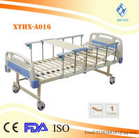 ABS Tube Cover Single-crank Two Folded Medical Nursing Bed