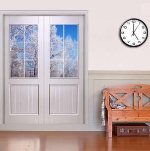 Wholesale glass door: HONMAX Double Main Entry Glass Insert Door for Interior Wood Door