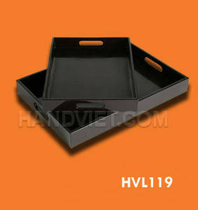 Wholesale tray: Rectangular Black Lacquer Tray
