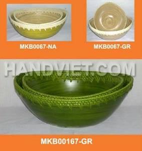 Wholesale Bamboo Crafts: Bamboo Mix Rattan Bowl