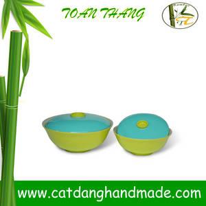 Wholesale Bamboo Crafts: Vietnam Bamboo Fiber Bowl, Bamboo Fruit Bowl