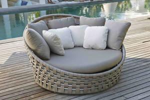 Wholesale lounge: Powder Coat Aluminum Frame Rattan Weav Lounge Chair