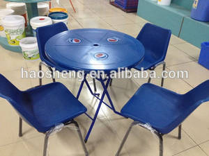 Wholesale Garden & Patio Sets: Outdoor Plastic Material White Round Table and Chairs Sets