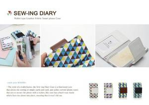 Wholesale wallets: Wallet Type Leather Case (Happymori Sew-ing Diary)