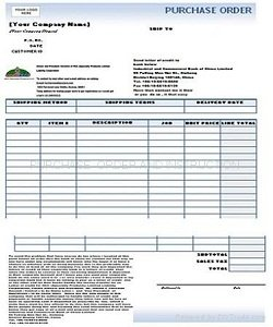 Purchase Order Sheet To Order Your Products Product details - View ...