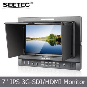 Wholesale hd lcd monitor: 3G SDI Input 7 Inch IPS Panel 1280*800 HD LCD Monitor with Built-in Speaker Brightness Histogram