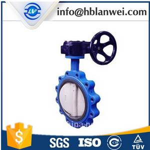 Wholesale wafer: Ductile iron single wafer type manual butterfly valve