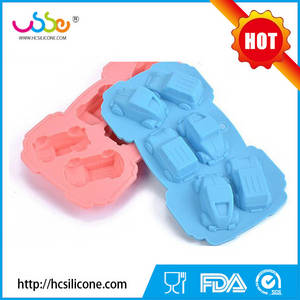 Wholesale silicone kids placemat: 2016 New Car Shape Silicone Cake Mould