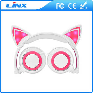 Wholesale Earphone & Headphone: Glowing Cat Ear Patent Wired Headphone Wholesale