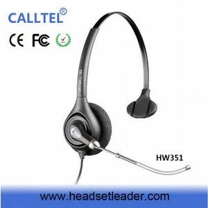 Wholesale Telephone Accessories: Professional Call Center Headset Headphone with Noise Canceling Microphone Telephone Headset