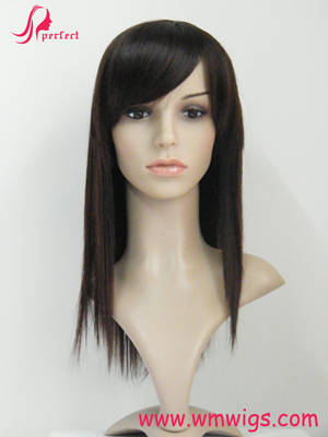Sell high quality synthetic silky straight hair wig