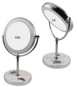 Wholesale led light makeup mirror: LED Bathroom Mirrors, Powered by Chargeable  Lithium Battery, Controlled by A Touch Sensor Manually
