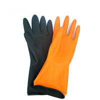 Latex Industrial Bicolor Working Safety Anti-skid Protection Crinkle Finish Rubber Labour Protection