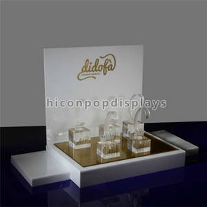 Wholesale wrist watch: Table Top Pure Acrylic Handmade Wrist Watch and Bracelet Display Stand