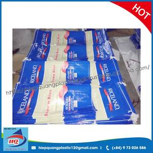 Wholesale packing box: 25kg/50kg BOPP Colorful Printing Laminated Rice Sack, Polypropylene Woven Bags
