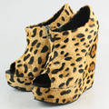 Sell bootie suede bootie for women ankle bootie leopard printed shoes online