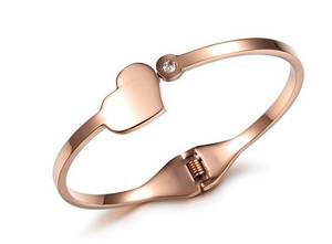Wholesale gold bangles: Stainless Steel Bangle with Rose Gold Plating Wholesale