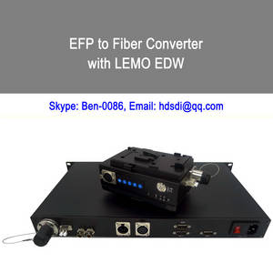 Wholesale 4 pin aviation connector: EFP To Fiber Converter with LEMO EDW Connector