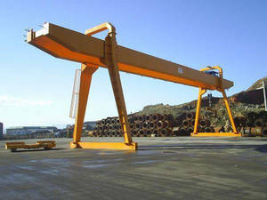Wholesale crane rail: 5T-100T Rail Type MG Double Girder Gantry Crane for Sale
