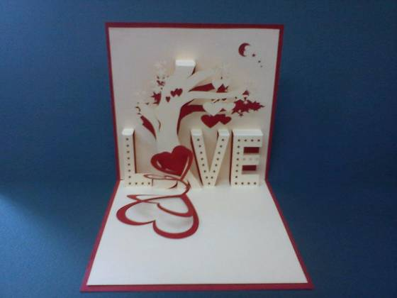 Sell Spring Tree - Handmade 3D pop up greeting card