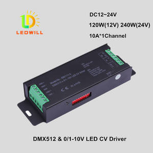 Wholesale led spotlight: 1CH DMX512 & 1-10V CV Driver with 3-PIN Connector LED Lighting Lamps with Lights Spotlights