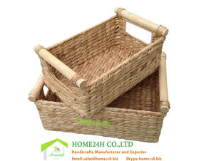 Wholesale candy: Water Hyacinth Storage Baskets S/2 New Product