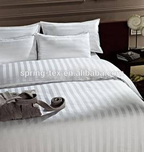 Wholesale cotton bedding comforter sets: 11 Years Professional Manufacturer 3cm Stripe Wholesale Used Hotel Bed Sheets