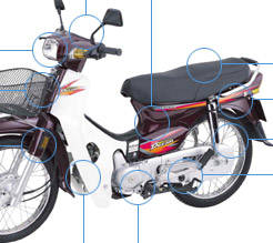motorcycle HONDA Super Dream 100cc  ( VIETNAM )