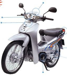 motorcycle HONDA Wave Alpha 100cc ( VIETNAM )