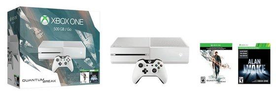 Xbox One 500GB White Console-Special Edition Quantum Break Bundle