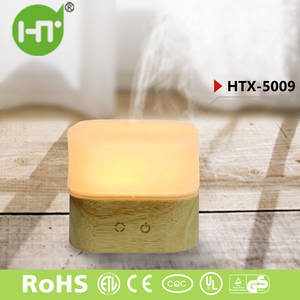 Wholesale natural light: Seven Colors Lights! HTX-5009 Natural Wooden LED Ultrasonic Humidifier Essential Oil Diffuser