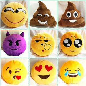 Wholesale plush toys: Cute Cheap Plush Emoji Pillows Hot Toys 20 Styles