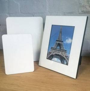 Wholesale photo frame: Blank Wood MDF Photo Frame for Sublimation Printing