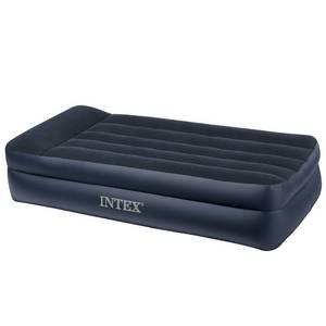 Wholesale bed sheets twin: Intex Pillow Rest Raised Airbed with Built-in Pillow and Electric Pump, Twin, Bed Height 16 1/2