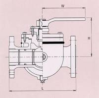 SEMI-JACKET BALL VALVE