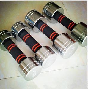 Wholesale Weight Lifting: Chrome Dumbbell with Foam Covered Handle
