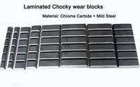 White Iron Wear Blocks Chocky Bar and Wear Button for Bucket