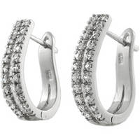 Sell :Sterling Silver Cubic Zirconia Hoop Earrings