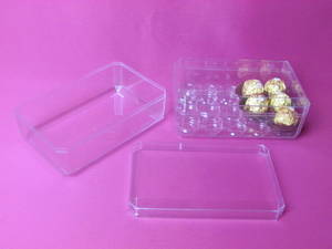 Wholesale candy box: plastic candy box, PS chocolate case