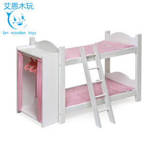 Wholesale bunk bed: European Style Wooden Doll Bunk Bed