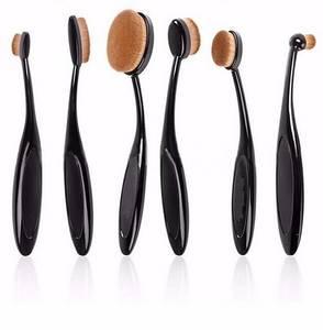 Wholesale fashion: 2016 Fashionable 6pcs Oval Makeup  Cosmetic Foundation Brush Set