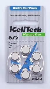 Wholesale Other Batteries: 675 Zinc Air Mercury Free Hearing Aid Batteries